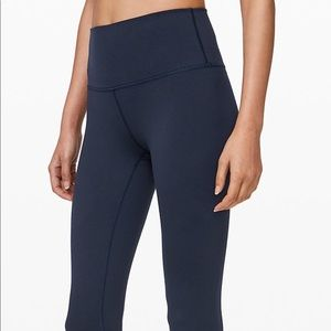 Navy Blue WunderUnder pants 7/8 | Size 2